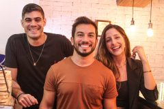 Lucas Farias, Pedro Jorge e Bárbara Saunders