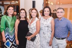 Ana D'Áurea Chaves, Angela e Mônica Bezerra, Moema Mota e Suetônio Mota