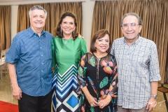 Lauro e Ana D'Áurea Chaves, Rita e Paulo Cruz