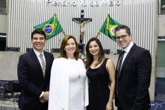 Helrson Dias, Aline Félix Barroso, Jamila Araújo e Lívio Parente