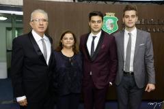 José, Lila e Pablo Guterres, com Valmir Lins