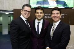 Lívio Parente, Pablo Guterres e Helrson Dias