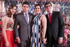 Clara, Fabrício, Cíntia e Pedro Cavalcante