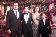 Fábio, Fábio Filho, Cristiane e Vitor Araújo