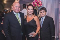 Luciano, Denise e Lorenzo Cavalcante