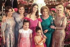 Regina Dias Branco, Gisela, Giulia, Giovanna Vieira, Gabriela da Escóssia, Consuelo Dias Branco e Graça da Escóssia