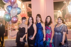 Rosana Marcondes, Patrícia França, Alinnes Telles Chaves, Daniela Sampaio e Sinara Araújo