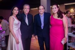 Tatiane e Everardo Telles, Alexandre Telles e Georgia Santos