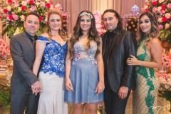 José Alzir, Ingrid Bessa, Maria Clara, Vicente Nery e Carol Rabelo