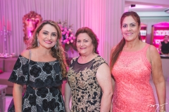 Valéria Feitosa, Rita Araújo e Débora Gurgel
