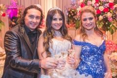 Vicente Nery, Maria Clara e Ingrid Bessa