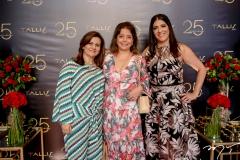 Nájla Corrêa, Cláudia Gradvohl e Elisa Oliveira