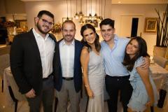 Davi, Prisco, Niedja, Pedro e Gabriela Bezerra