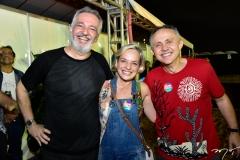 Mimi Rocha, Paola Braga e Evaldo Lima