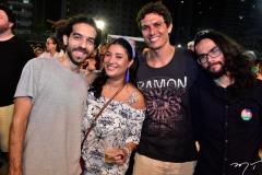 Victor Lopes, Clarisse Serpa, Daniel Aires e Thiago Andrade