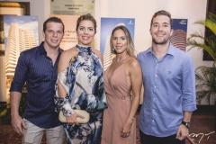 André, Ticiana, Isabela e Guilherme Rolim