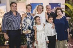 Edson Queiroz Neto, Ticiana, Stella, Beatriz, Marco, Pio e Edyr Rolim