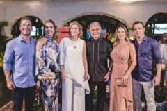 Guilherme, Ticiana, Stella, Pio, Isabela e André Rolim
