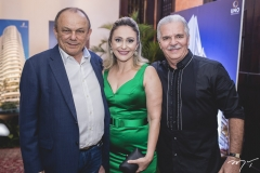 Honório Pinheiro, Carla Pinheiro e Pio Rodrigues Rolim