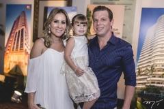 Paula, Luiza e André Rolim