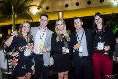Michele Ferreira, Felipe Borges, Natasha Biscaro, Felipe Almeida e Marina Albuquerque