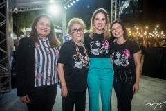 Denise Aguiar, Socorro França, Onélia Santana e Patrícia Liebmann