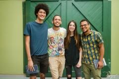 Felipe Eloi, João, Andrea Lima e Miguel Furtado