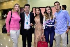 Elaine Mota, Ramito Junior, Ana Clara Rocha, Camila Costa e David Pinho