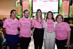 Ezilda Sousa, Cláudio Nelson,  Luana Brasileiro, Patrícia e Joana Macedo