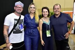 Romualdo Casiano, Isabele Santos, Arian Padiosi e Gilvan Magno