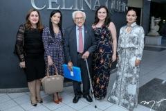 Francilene Gomes, Katiane Virna, João de Lemos, Maria Cecilia e Márcia Sucupira