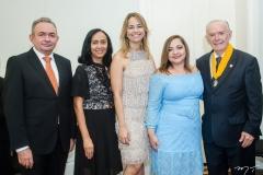 Júnior Bonfim, Elinalva Oliveira, Grecianny Cordeiro, Angélica Sampaio e Seridião Montenegro