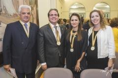 Tales de Sá Cavalcante, Ricardo Bacelar, Manoela Bacelar e Ticiana Queiroz