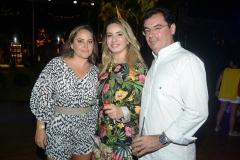 Clarisse Linhares, Cristina Vasconcelos e Paulo Menezes