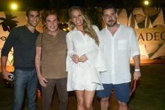 Daniel Levi, Lazaro Medeiros, Adriane Galisteu e Alexandre Iodice