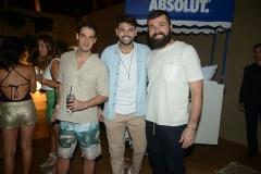 Dorival Neto, Alberto Andrade e Fabio Queiroz