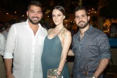 Felipe Rocha, Paulinha Sampaio e Marco Abreu