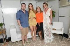 Renato e Liana  e RebecaThomaz e Claudia Leitte