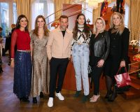 Renata Doria, Milena Penteado, Alexandre Birman, Amanda Cassou e Patsy Scarpa