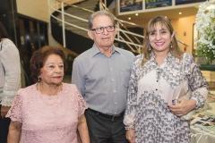 Maria do Carmo Almeida, João Araújo Sobrinho e Lucrécia Figueiredo