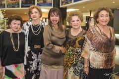 Rosa Virgínia, Mazé Campos, Selma Cabral, Yolanda Araújo e Stefania Pinheiro