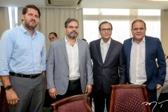 Rafael Rodrigues, Edson Queiroz Neto, Beto Studart e Roberto Moreira
