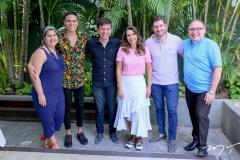 Lia Veras, Marcos Lessa, Waldonys, Márcia Travessoni, Paulo José e Padre Eugênio