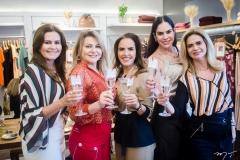 Ivana Bezerra, Silvana Guimarães, Anna Maria Brasil, Ginna Gonçalves e Germana Cavalcante