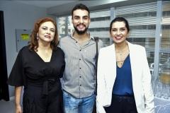 Carla Pinto, Bruno Calaça e Márcia Travessoni