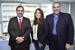 Hugo Leão, Raquel Barros e Edson Ferreira
