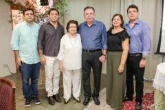 Augusto Pinho, Ricardo, Holandina, Ricardo, Rosangela e Vitor Cavalcante