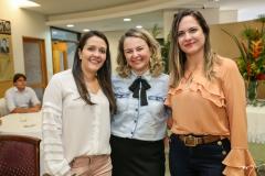 Raquel Vasconcelos, Kelly Whitehurst e Juliana Guimarães