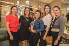 Luciana Vilaça, Ana Paula Daud, Liliane Gomes, Leiliane Pinheiro e Cintia Sampaio