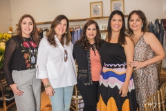 Cristiane Faria, Nara Amaral, Martinha Assunção, Elisa Oliveira e Cláudia Gradvohl
